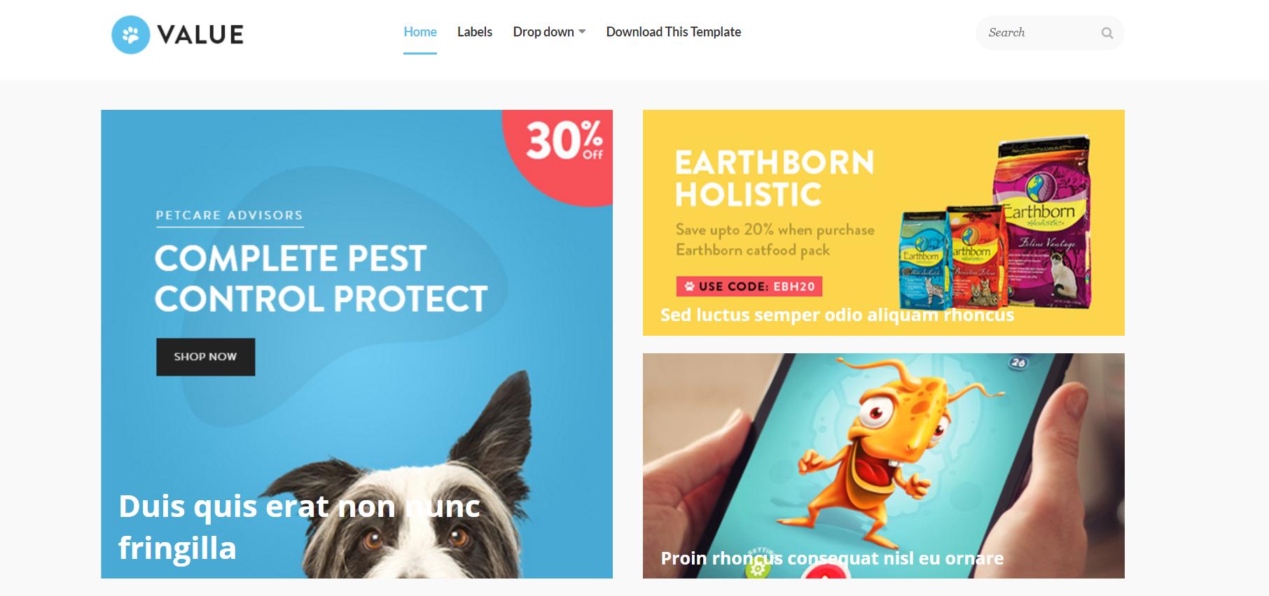 best ecommerce blogger template