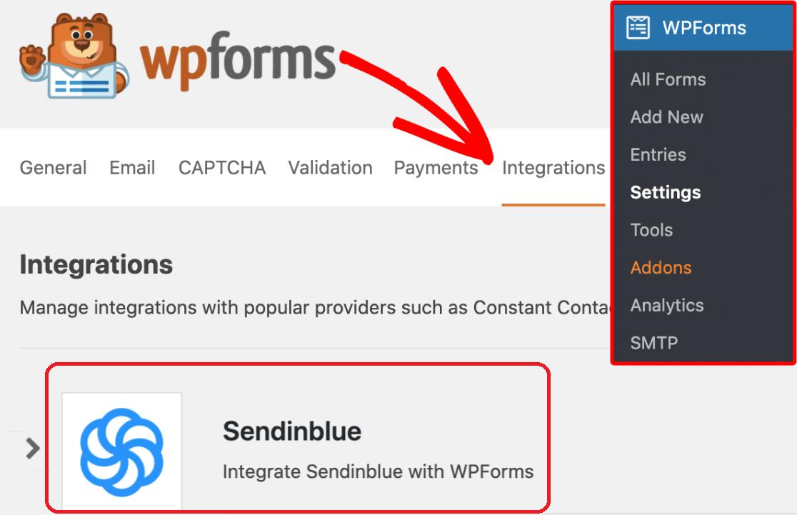 WPForms and Sendinblue