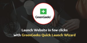 Create a blog in just a few clicks with GreenGeeks Quick Launch Wizard
